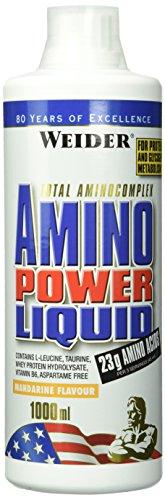 WEIDERAmino Power Liquid, Mandarine, Flüssiges Hydrolysiertes Protein + Aminosäuren, 1 Liter