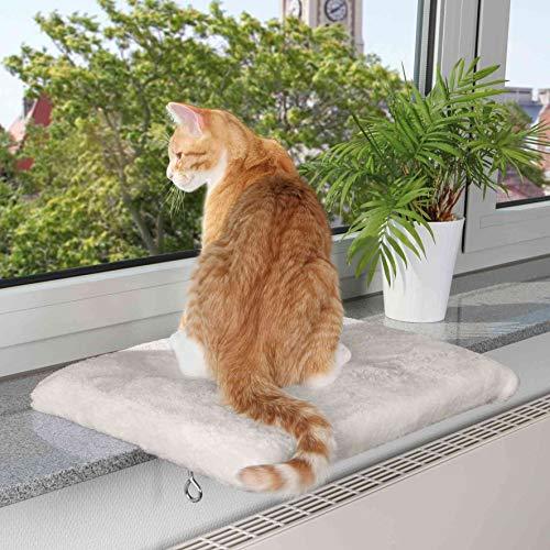 Trixie 4328 Liegeplatte für Fensterbank, 51 × 36 cm, lichtgrau