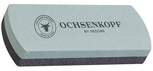 Ochsenkopf Schleif- und Abziehstein aus Silicium-Carbid, Für Flache Schneiden, Grobe und feine Körnung