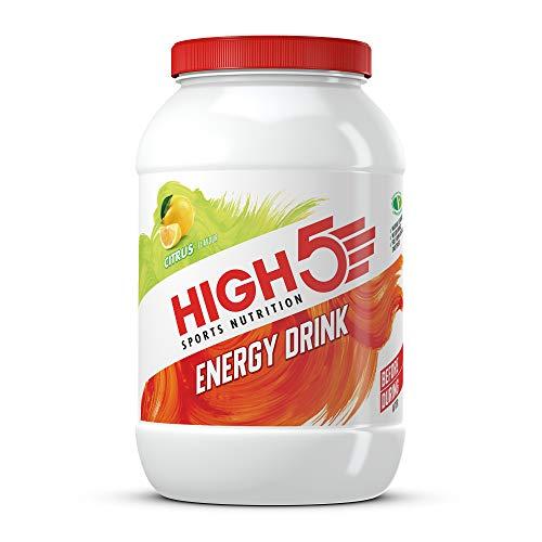 HIGH5 Energy Drink, veganes, erfrischendes, isotonisches Sportgetränk aus Kohlenhydraten und Elektrolyten – Zitrus – 2,2kg