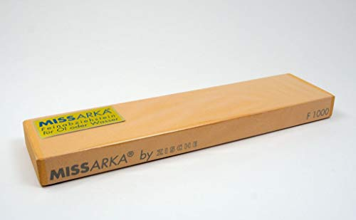 Zische Missarka Abziehstein, 200 x 50 x 16 mm, Körnung FEPA 1000 (JIS 3000), Feinabziehstein Schleifstein für Schneidklingen, Rasiermesser & chirurgische Instrumente