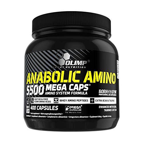 Olimp Anabolic Amino 5500 Mega Caps, Aminosäuren, 66 Portionen, 400 Kapseln