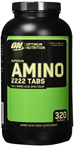 Optimum Nutrition Amino 2222- essentielle Aminosäuren (mit Verzweigtkettige Aminosäuren) BCAA Tabletten von ON- Unflavoured, 160 Portionen, 320 Kapseln