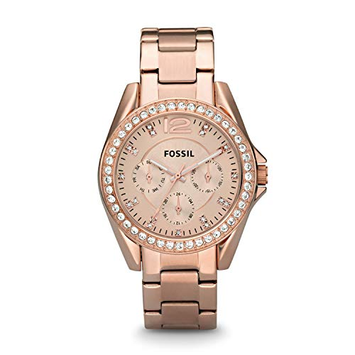 Fossil Damen Analog Quarz Uhr mit Edelstahl Armband ES2811