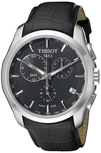 Tissot Herren Chronograph Quarz Uhr mit Leder Armband T0354391605100