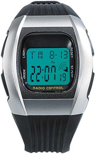PEARL Funkarmbanduhr: Digitale Unisex-Sport-Funkuhr mit LCD-Display SW-640 dcf (Digitale Funkarmbanduhr)