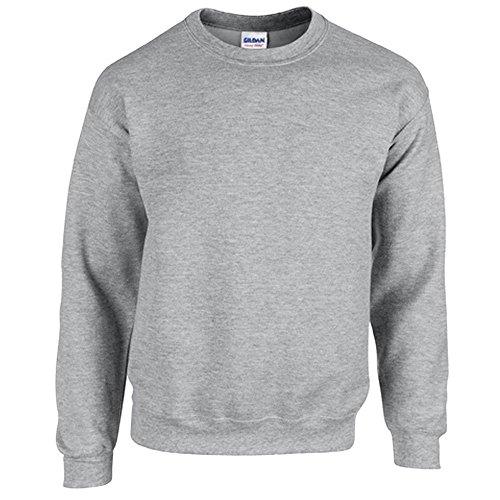 Gildan Heavy Blend Erwachsenen Crewneck Sweatshirt 18000 M, Sport Grey