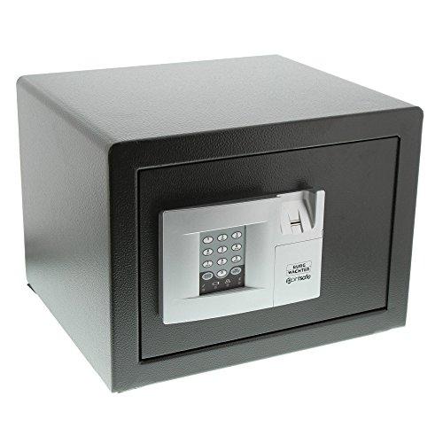 BURG-WÄCHTER Möbeltresor mit elektronischem Zahlenschloss und Fingerscan-Modul, Zur Wand- und Bodenbefestigung, PointSafe P 2 E FS