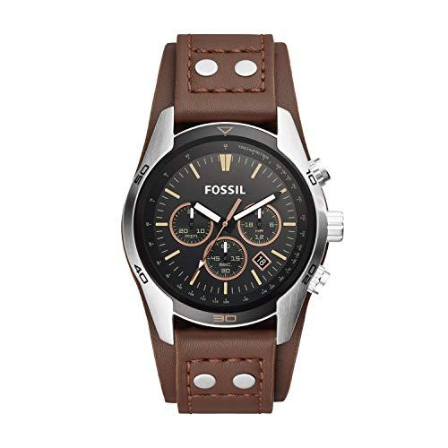 Fossil Herren Chronograph Quarz Uhr mit Leder Armband CH2891