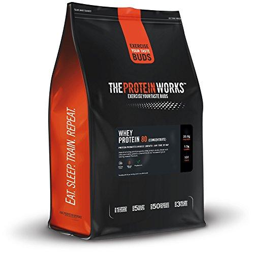 Whey 80 Protein Pulver (Konzentrat)   Premium Eiweißpulver Zum Muskelaufbau, Proteinpulver  THE PROTEIN WORKS, Geschmacksneutral, 2kg