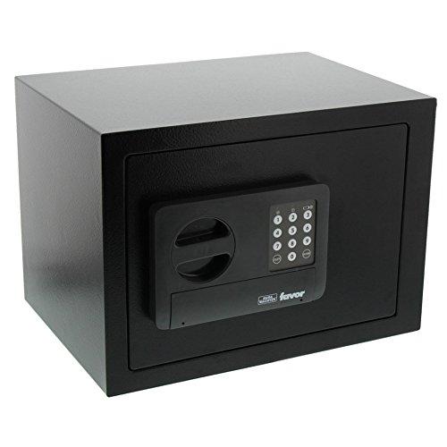 BURG-WÄCHTER Möbeltresor mit elektronischem Zahlenschloss, Favor S 5 E, Schwarz