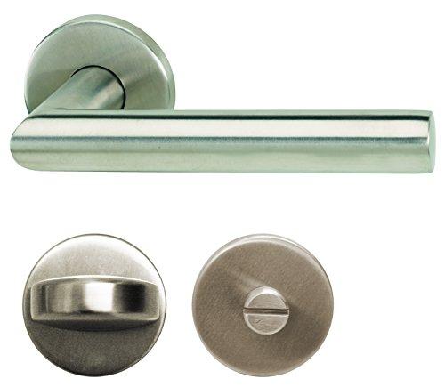 Alpertec 28020530 Edelstahl Moskau II-R für Badtüren WC Drückergarnitur Türdrücker Türbeschläge Neu