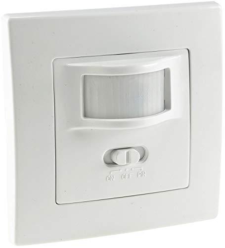 Bewegungsmelder 160° Unterputz Wand-Montage Schaltet ab 1Watt 9m Reichweite 230V 2-Draht Technik Ersetzt einen Lichtschalter Weiß