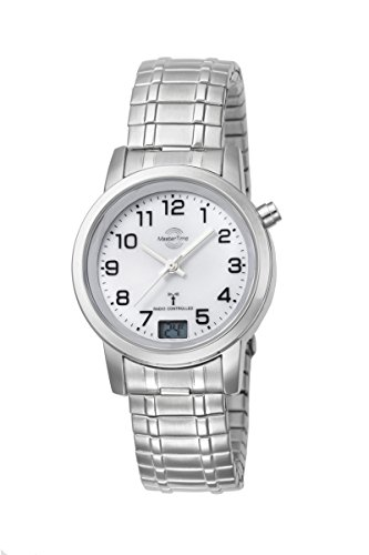 Master Time Funk Quarz Damen Uhr Analog-Digital mit Edelstahl Armband MTLA-10307-12M