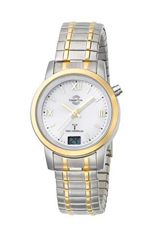 Master Time Funk Quarz Damen Uhr Analog-Digital mit Edelstahl Armband MTLA-10311-13M