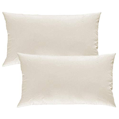 MACK - Basic Kissen Set mit Federfüllung | Federkissen für einen erholsamen Schlaf | 40x80 cm - 2er Set