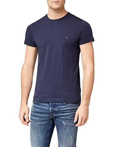Tommy Hilfiger Herren CORE STRETCH SLIM CNECK TEE T-Shirt, Blau (Navy Blazer 416), XX-Large