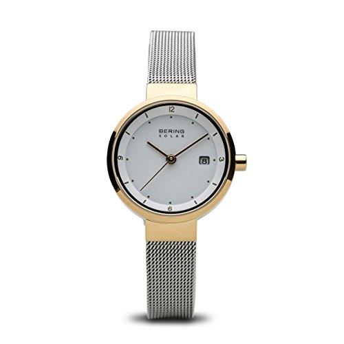 BERING Damen-Armbanduhr Analog Solar Edelstahl 14426-010