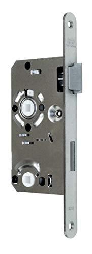 BKS Standard Badezimmer Türschloss mit Vierkant 55/78/8, Stulp: 20 x 235mm abgerundet, DIN Rechts incl. SN-TEC® Montageset
