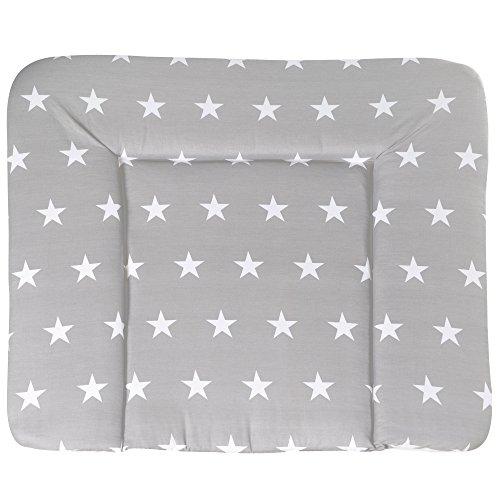 roba Wickelauflage \'Little Stars\', weiche Wickelunterlage 85x75 cm, Baby Wickeltischauflage PU beschichtet