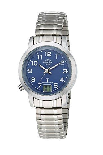 Master Time Funk Quarz Damen Uhr Analog-Digital mit Edelstahl Armband MTLA-10492-32M