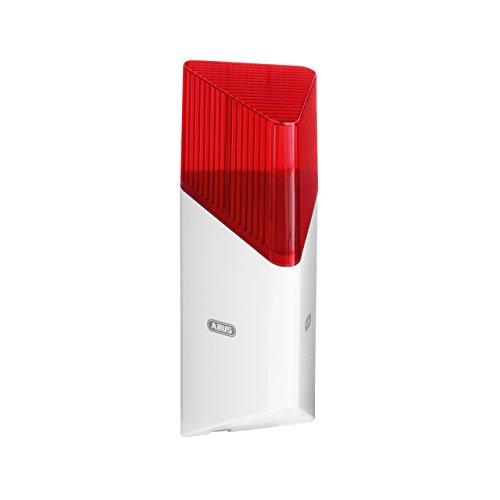 ABUS Funk-Sirene Smartvest für Funk-Alarmanlage   bis zu 100 db Lautstärke   Innen- und Außen-Montage   Batteriebetrieben   weiß   38832