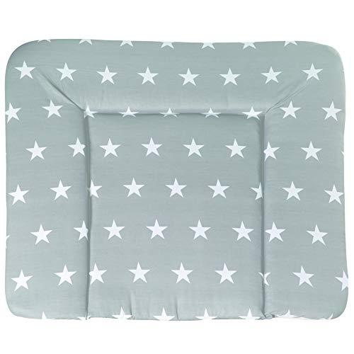roba Wickelauflage 'Little Stars', Wickelunterlage 85x75cm aus phthalatfreier Folie, Baby Wickeltischauflage weich gepolstert