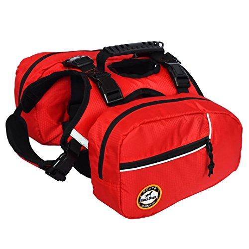 Blackdoggy Rucksack für Hunde, verstellbar, für Outdoor-Wandern, Satteltaschen-Stil, Hundezubehör