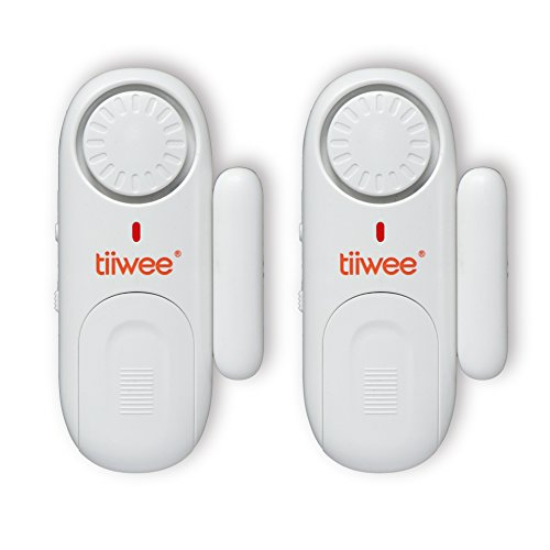 tiiwee Fensteralarm Türalarm 120 dB Einbruchschutz - 2er Set mit Batterien
