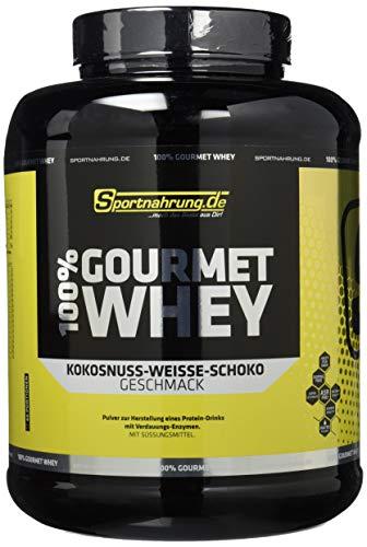 Sportnahrung.de 100{6979355d74b969a9d99f74d96ff765e039524a7bcbfa3b10fb7e91f84529dba6} Gourmet Whey - hochwertiges leckeres Protein mit wichtigen Aminosäuren und MCT Weiße Schoko-Kokosnuss, 2000 g