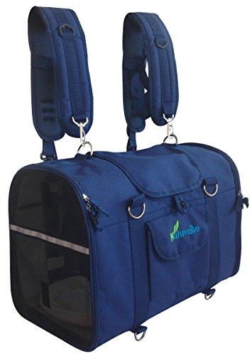 6-in-1 ROBUSTER Transportrucksack für Haustiere, Brusttasche, Schultertasche, Kleintiertransportbehälter, Transportbehälter für Katzen, Hunde, Weiche Seitentrage, innerhalb des Autotransportbehälter
