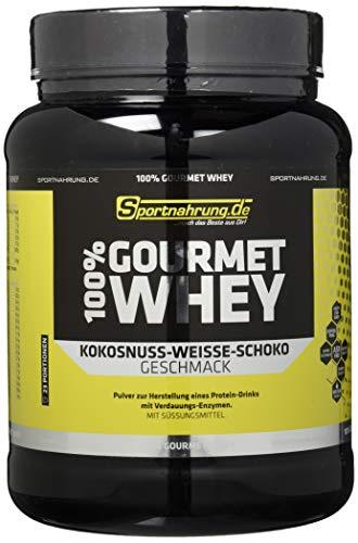 Sportnahrung 100{890862a5deb01904314c895fd1c2003dd2f6c7d330e4c46efe40a536ed5ad130} Gourmet Whey - hochwertiges leckeres Protein mit wichtigen Aminosäuren und MCT Weiße Schoko-Kokosnuss, 700 g