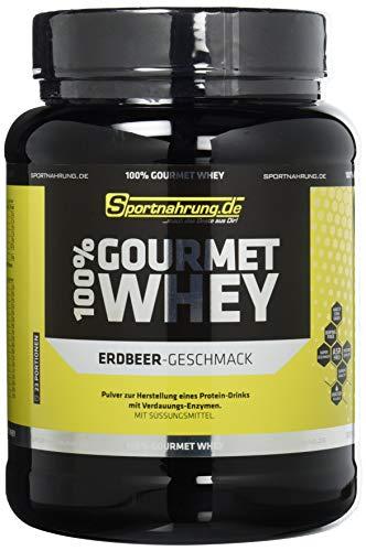 Sportnahrung.de 100{890862a5deb01904314c895fd1c2003dd2f6c7d330e4c46efe40a536ed5ad130} Gourmet Whey - hochwertiges leckeres Protein mit wichtigen Aminosäuren und MCT Erdbeere, 700 g
