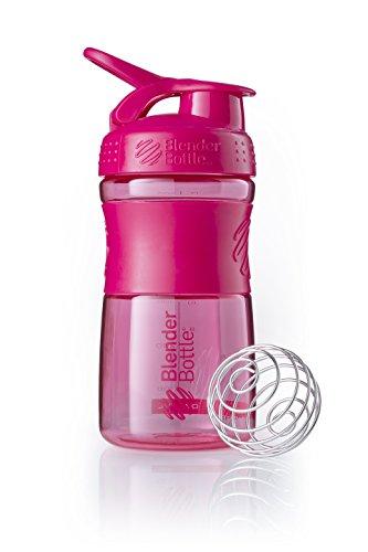 BlenderBottle Sportmixer Tritan Trinkflasche mit BlenderBall, geeignet als Protein Shaker, Eiweißshaker, Wasserflasche oder für Fitness Shakes, BPA frei, skaliert bis 500 ml, 590 ml, pink