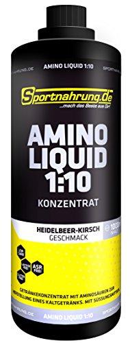 Sportnahrung.de Amino Liquid 1000ml-Heidelbeere-Kirsch