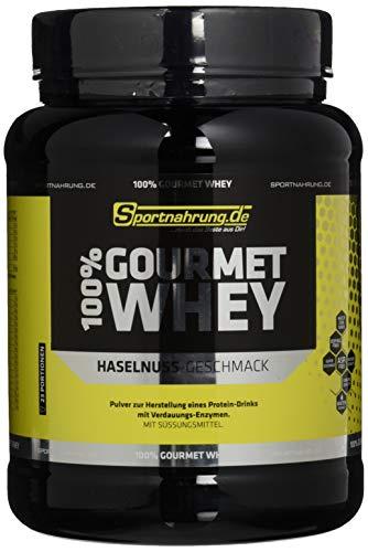 Sportnahrung.de 100% Gourmet Whey - hochwertiges leckeres Protein mit wichtigen Aminosäuren und MCT Haselnuss, 700 g