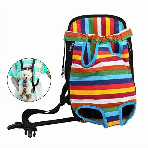 Case Wonder Vorne Hunde Rucksack, Verstellbar Haustier Hundetasche Hundetragetaschen Hunderucksack für kleine Hunde und Katzen für Outdoor, Reise, Camping, Wandern(M)