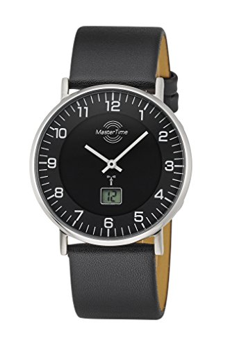 Master Time Funk Quarz Damen Uhr Analog-Digital mit Leder Armband MTGS-10560-22L