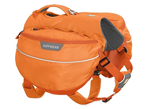 Ruffwear Wander-Rucksack für Hunde, Große bis sehr große Hunderassen, Größenverstellbar, Größe: L/XL, Orange (Orange Poppy), Approach Pack