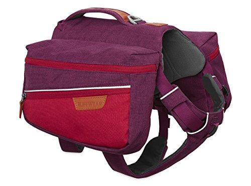 Ruffwear Hunde-Rucksack zum täglichen Gebrauch, Kleine Hunderassen, Größenverstellbar, Größe: S, Violett (Larkspur Purple), Commuter Pack, 5050-580S