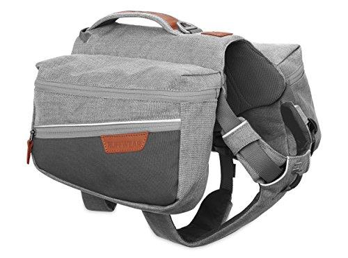 Ruffwear Hunde-Rucksack zum täglichen Gebrauch, Sehr kleine Hunderassen, Größenverstellbar, Größe: XS, Hellgrau (Cloudburst Grey), Commuter Pack, 5050-045S1