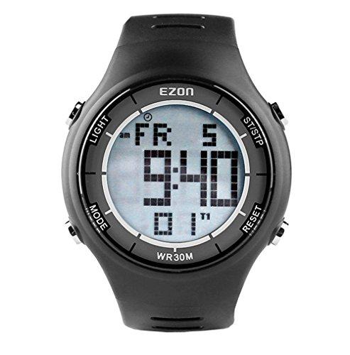Ezon Digitale Herren-Sportuhr mit Stoppuhr und Countdown, wasserdicht