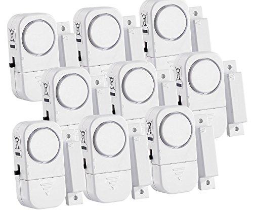 VisorTech Fenstersicherung: 9er-Set Mini-Tür- und Fensteralarme, 95 db, 2 Jahre Batterielaufzeit (Fenster und Türalarm)