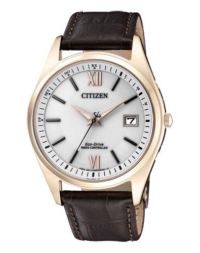 CITIZEN Herren Analog Solar Uhr mit Leder Armband AS2053-11A