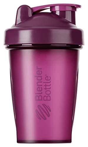 BlenderBottle Classic Shaker mit BlenderBall, optimal geeignet als Eiweiß Shaker, Protein Shaker, Wasserflasche, Trinkflasche, BPA frei, skaliert bis 400 ml, Fassungsvermögen 590 ml, lila purple