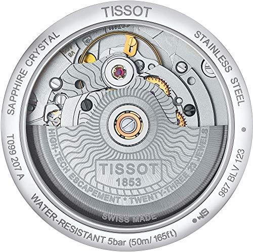 Tissot Damen-Uhren Analog Automatik One Size Edelstahl 87249271