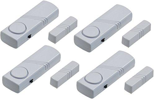 Tür- & Fenster Alarm TFA-S8 95dB laut - 4er Set - 4 Magnetsensoren und 4 Alarmgeber Sicherheit Prävention Einbruch