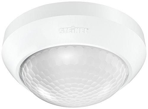 Steinel Bewegungsmelder IS 360-3 weiß, 2000 W Schaltlast, 360 Grad PIR Sensor, 12 m Reichweite, LED geeignet, Deckenmontage