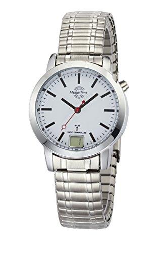 Master Time Funk Quarz Damen Uhr Analog-Digital mit Metall Armband MTLA-10591-11M