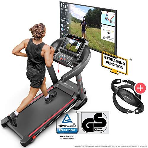 Sportstech F37 Profi Laufband-Deutsche Qualitätsmarke- Selbstschmiersystem,APP Kinomap, 7PS bis 20 km/h. Bluetooth MP3, HRC- Klappbar, große Lauffläche, TÜV/GS, Pulsgurt im Wert von 49,9EUR, bis 150kg